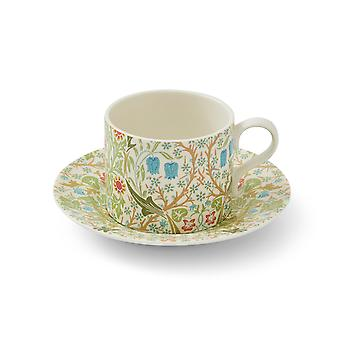 Morris and Co Tea Cup and Saucer, Blackthorn