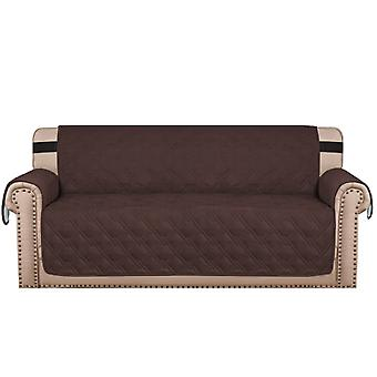 100% Waterproof sofa covers couch slipcovers with strap for 1/2/3/4 seater, brown