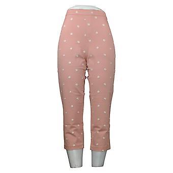Isaac Mizrahi En direct! Femmes's Petite Pants Stretch Daisy Crop Pink A376623