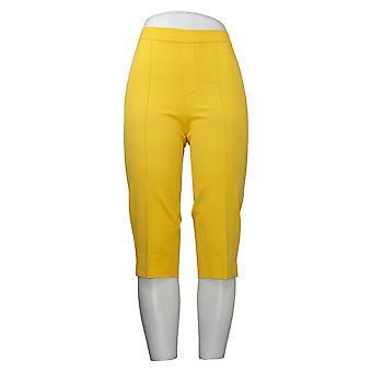 Isaac Mizrahi En direct! Pantalon femme Poussoirs à pédales Pintucks Jaune A377472
