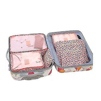 6pcs Opérateur de bagages Imperméable Sacs de rangement de vêtements Cubes Organisateurs de voyage Bagages