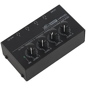 Eu Plug,ha400 Erittäin kompakti 4 kanavaa Mini O Stereo -kuulokevahvistin