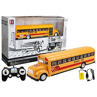 Kauko-ohjattava koulubussi – Keltainen – RC-lelut