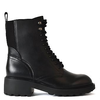 Ash STYX Military Style Boot Black Leather