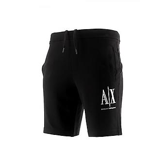 Armani Exchange Black Drawstring Shorts