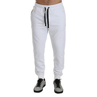 White dg crown jogging cotton  sweatpants