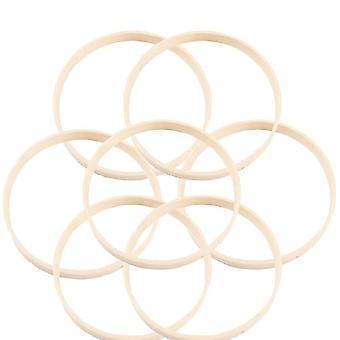 Acchiappasogni cerchio di bambù cerchio rotondo in legno fai da-da-me arte artigianato strumenti punto croce