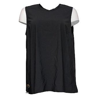 Marla Wynne Women's Top Sleeveless Nylon Black 668606