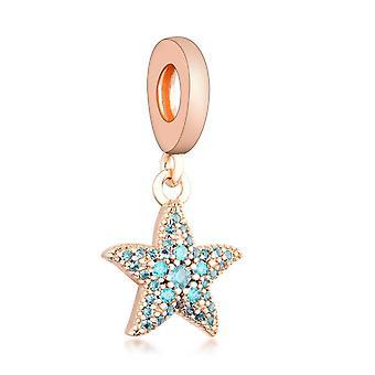 Karkötők Csillogó Starfish Dangle Charm 925 Ezüst Medál Gyöngyök DIY Ékszer Dangle | Varázsa