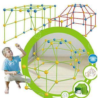87 Pcs Build Your Own Den Set DIY Kids Present Fort Construction Building Toy