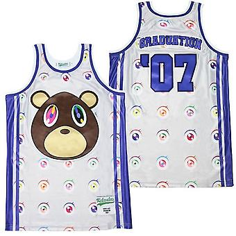 Men's Graduation Eyes #07 Basketball Jersey Sports T Shirt S-xxl,fashion 90s Hip Hop Clothing For Party, Stitched Letters And Numbers