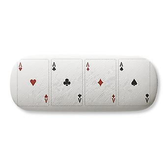 A Heart Spade Diamond Club Pattern Lunettes Case Lunettes Hard Shell Rangement Lunettes Boîte à lunettes