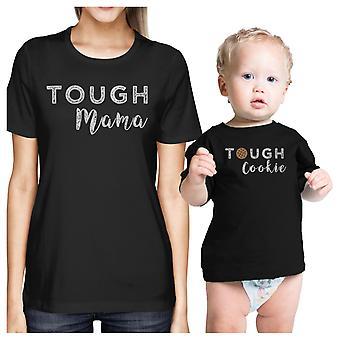 Mocna Mama idealna Cookie czarne Mama i dziecko para T-Shirt śmieszne prezenty