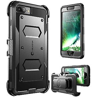 i-Blason-iPhone 7 Plus cas, [Armorbox] construit en pare-chocs boitier-noir
