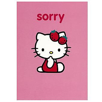 Bonjour Kitty rose désolés Greetings Card