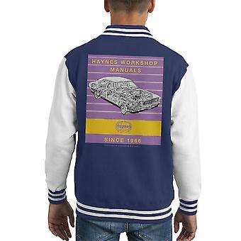 Varsity Jacket de Haynes atelier manuel 0070 Ford Cortina Mk3 Stripe Kid
