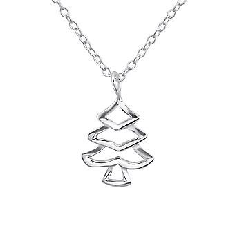 Noel Ağacı - 925 Gümüş Düz Kolye - W25026x