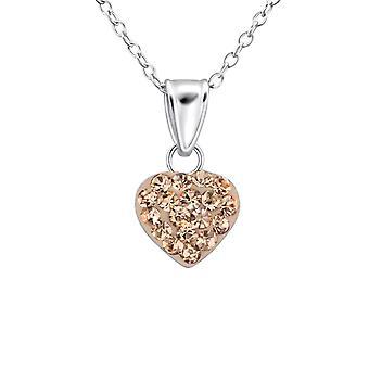 القلب - 925 قلادات فضية من الجنيه الاسترليني - W26923X
