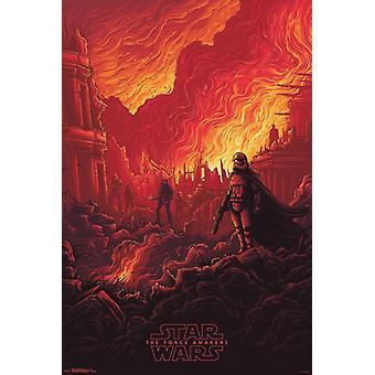 Star Wars, die die Kraft erwacht - Ruinen Plakat Poster drucken
