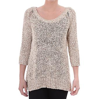 Maison Scotch Womens Boxy Fit Crew Neck In Special Yarn