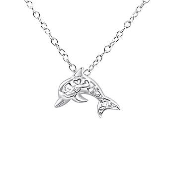 Dolphin - 925 Sterling Silver Plain Necklaces - W26904X