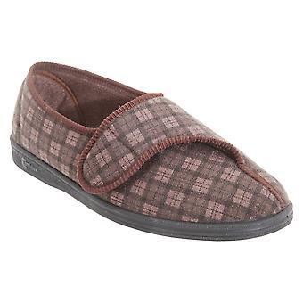 Comfylux Mens Paul Check Slippers