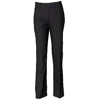Henbury Womens/dames à plat devant pantalon Bootleg de vêtements de travail