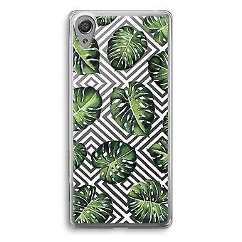 Sony Xperia XA1 przezroczyste etui (Soft) - dżungla geometrycznej