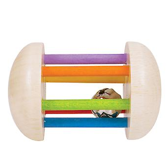 Bigjigs Toys Wooden Rainbow Rattle Sensory Baby Educational Newborn Learn