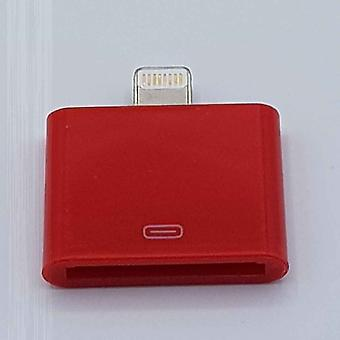 30 PIN til 8 pin adapter-for iPad/iPhone-rød