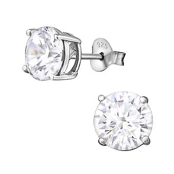 Ronde - 925 Sterling Silver Classic Ear Studs - W9149X