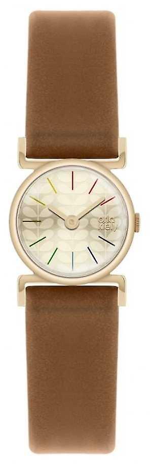 Orla Kiely Cecelia Brown Leather Strap OK2046 Watch