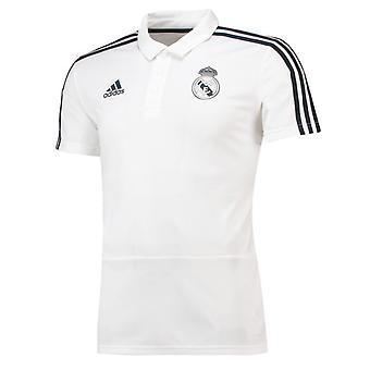 2018-2019 Real Madrid Adidas Polo Shirt (White)