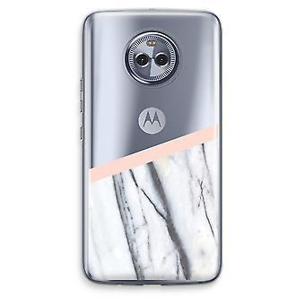 Motorola Moto X4 boîtier Transparent (doux) - une touche de pêche