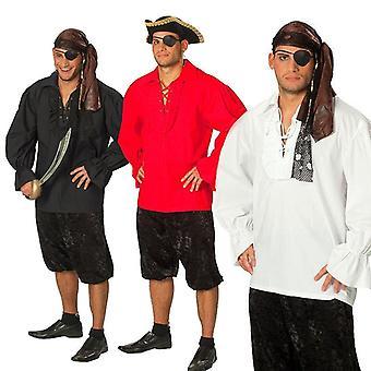 Piratenhemd Piratenkostüm Seeräubershirt Südsee Kostüm für Herren