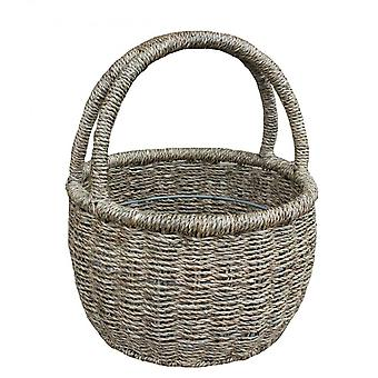 Double håndtak rundt sjøgress handle Basket