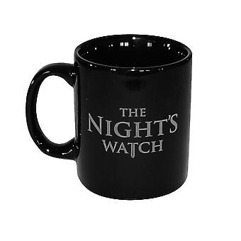 Game of Thrones Tasse Nights Watch -The Oath- schwarz, bedruckt, aus Keramik, Fassungsvermögen ca. 350 ml., in Geschenkkarton.