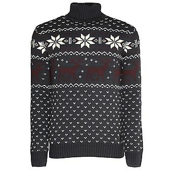 Soul Star Mens Knitted Polo Roll Crew Neck Pullover Christmas Jumper Sweater
