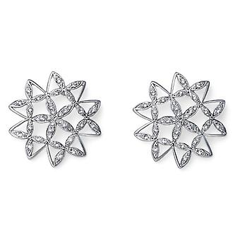 Oliver Weber Post Earring Mandala Rhodium Crystal