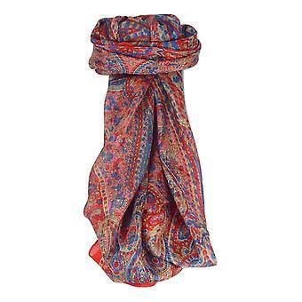 Amoreira de praça tradicional seda cachecol Zorn Scarlet por Pashmina & seda