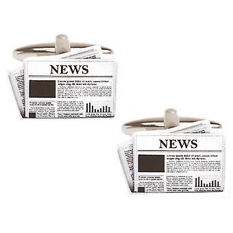 Zennor Gazetesi Kol Düğmeleri - Siyah/Beyaz