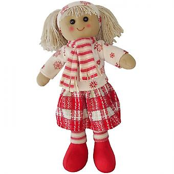 Powell Craft Childrens Fabric Rag Doll  - Father Christmas