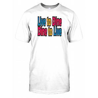 Live at spise spise for at leve - sjove citerer Herre T-shirt