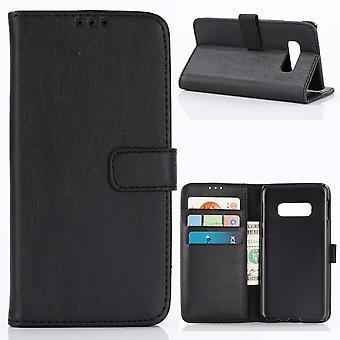 Samsung Galaxy S10e retro Wallet Case-zwart