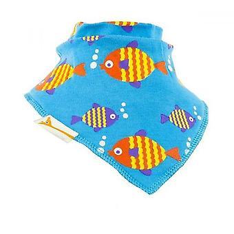 Babador de bandana azul peixes funky