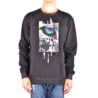 Les Hommes Urban Ezbc260001 Men's Black Cotton Sweatshirt
