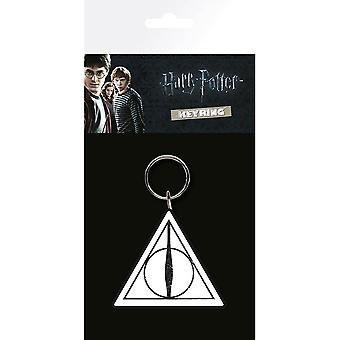 Harry Potter Deathly Hallows Rubber Keyring
