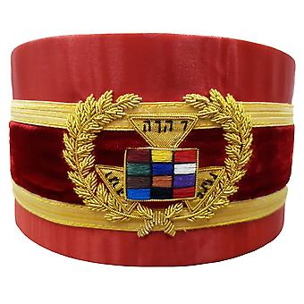 Royal Arch Grand Past High Priest PHP Bullion Hand Embroidered Red Cap