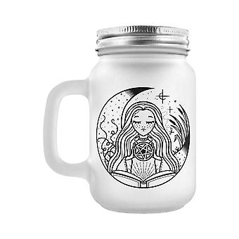 Grindstore White Witch Frosted Mason Jar