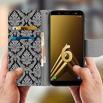 Samsung Galaxy A6 Plus soporte de la tarjeta del soporte función oriental Pattern Black